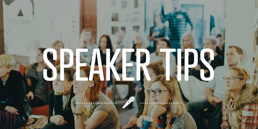 Speaking tips gleaned from CreativeMornings