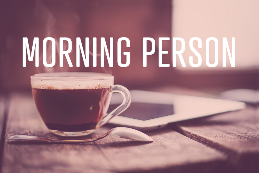 Morning Person: William Walker
